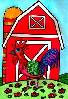 Charlie, The Rooster - Dawn Collins