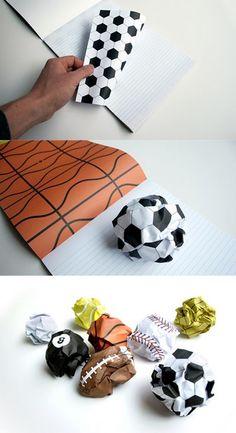 Bloco de notas com páginas-bola