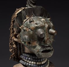Central Africa, Democratic Republic of the Congo, Songye people, late 19th-early 20th century, wood, glass beads, brass, copper, iron, human teeth, antelope horn, hide, animal hair, minerals, plant fibers, Overall: 64.00 x 24.50 x 24.00 cm (25 3/16 x 9 5/8 x 9 7/16 inches). René and Odette Delenne Collection, Leonard C. Hanna, Jr. Fund 2010.451