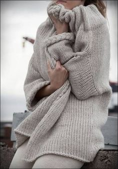 would love to have many colors of sweaters like this .... looks so comfy