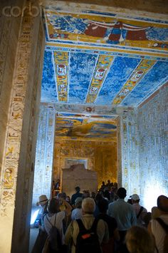 Tourists in Tomb of Ramses IV