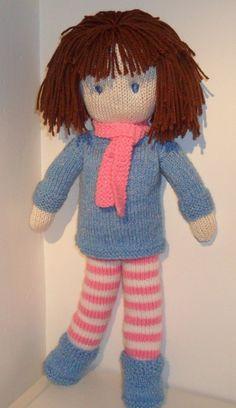 Rag Doll Knitting Pattern pdf Instant Download by JemimahJane