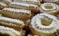 Recepti iz moje bilježnice: Keksi na mašinu Spritz Cookie Recipe, Spritz Cookies, Cookie Recipes, Czech Recipes, Croatian Recipes, Ethnic Recipes, Mini Cakes, Christmas Baking, Cookie Dough