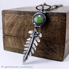 Sterling silver and Serpentine Rose cut green by gemheaven on Etsy, £98.00