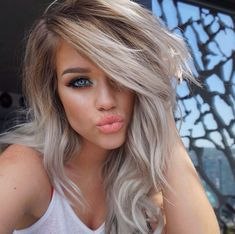 Ombré blonde grey