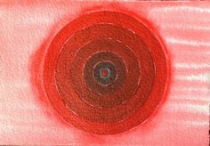 Original painting 'red' acrylic on paper by Arkofconsciousness, $21.00