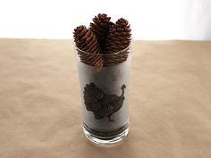 Thanksgiving Craft: Etched Glass Turkey Vases >> http://blog.diynetwork.com/maderemade/how-to/thanksgiving-craft-etched-glass-turkey-vases/?soc=pinterest