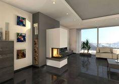 feuer von drei seiten fire place pinterest feuer. Black Bedroom Furniture Sets. Home Design Ideas