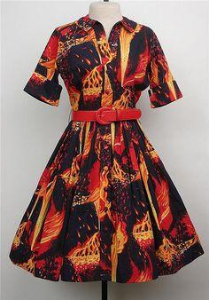 Ms. Frizzle volcano dress