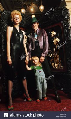 David and Angie Bowie with their 2-year-old son Zowie in February 1974.