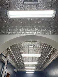 #tinceiling panels and moldings for the hallway and rooms in the Wright County Courthouse #tinceilings #historicbuilding Tin Ceilings, Ceiling Panels, Moldings, Art Deco Fashion, Home Remodeling, Colonial, Victorian, Rooms, Metal