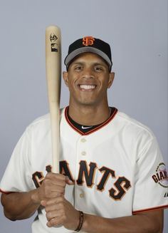 This is a 2015 photo of Justin Maxwell of the San Francisco Giants baseball team.