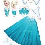 Figura de Elsa Frozen para armar