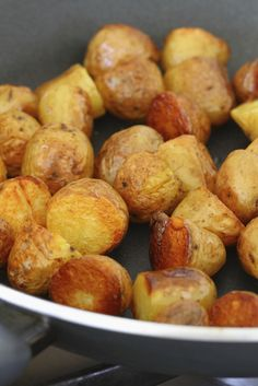This sous vide new potato recipe is a fantastic snack or canapé for a dinner party