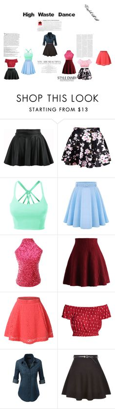 """""""High Waste Dance"""" by elirana-chase on Polyvore featuring LE3NO, WithChic, Chicwish, New Look, Victoria's Secret and Balmain"""