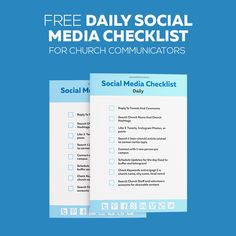Daily Social Media Checklist For Church Communicators