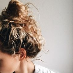 Mussed and Messy, Tousled and Tangled Curls | Locks Twisted Into Textured Bun