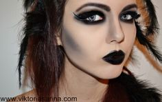 ViktoriaSarina: Halloween Make Up - Black Swan