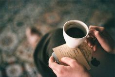 Read into my coffee, but don't forget between the lines.