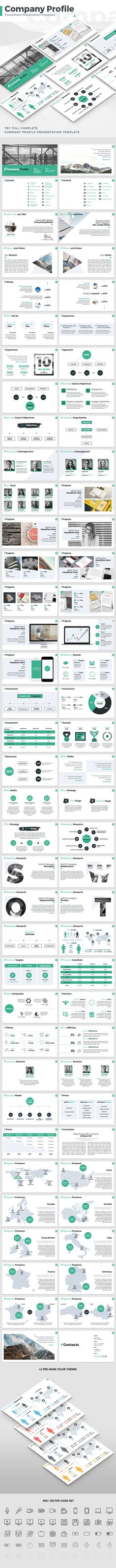 Company Profile PowerPoint Presentation Template #brand #project • Download ➝ https://graphicriver.net/item/company-profile-powerpoint-presentation-template/18475743?ref=pxcr