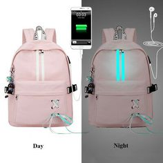 Fashion Anti Theft Reflective Waterproof Women Backpack USB Charge School Bags For Girls Stylish Travel Laptop Bag Rucksack Bookbags Mochila Kpop, Mochila Adidas, Big Backpacks, School Backpacks, Backpacks For Girls, School Bags For Girls, Girls Bags, Bags For College, College Agenda
