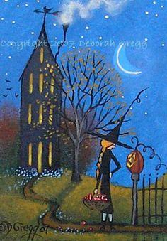 Folk Art Paintings by Deborah Gregg