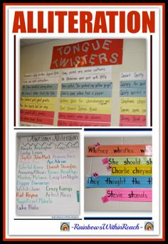 ALLITERATION: Tongue Twisters + Language LUV at RainbowsWithinReach