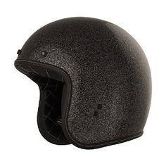 Fly Retro 3/4 Helmet in Black Metal Flake