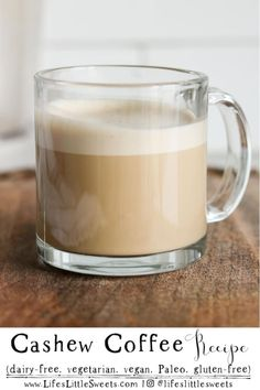 Cashew Coffee - creamy satisfying coffee drink that uses raw unsalted cashews blended together with hot coffee. No need for coffee creamer half and half Coffee Drinks, Hot Coffee, Strawberry Mousse, Valentine Desserts, Low Carb Cheesecake, Unsweetened Chocolate, Gluten Free Cakes, Coffee Creamer, Shredded Coconut