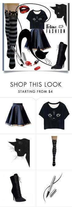 """""""Feline Fashion"""" by kari-c ❤ liked on Polyvore featuring Chantecaille and catstyle"""