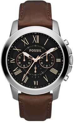 FS4813 - Authorized Fossil watch dealer - MENS Fossil GRANT, Fossil watch, Fossil watches