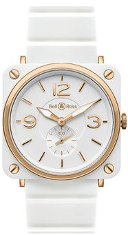 Bell and Ross Ceramic/Rose Gold Watch, Love it!