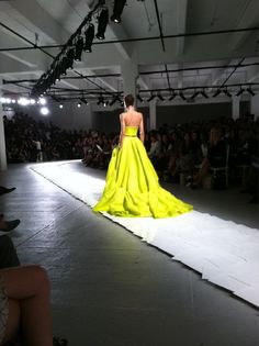 """Fell in love with chartreuse @MissWu_NY"" - @WmagHan    Follow W editors' on Twitter and Tumblr for ongoing Spring/Summer 2012 coverage."