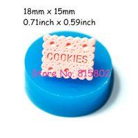 Freies Verschiffen QYL017U Rechteckig Cookie/Keks Flexible Silikon Mold Miniatur Lebensmittel Sweets (Ton, Fimo, Harze, Gum Paste)