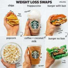 These Swaps Will Not Only Save Your Waistline But Also Your Health Love To Make Smart Food Choices Some Healthy Swaps To Add To Your Nutrition Routine Healthy Food Swaps, Healthy Meal Prep, Healthy Drinks, Healthy Recipes, Healthy Foods, Diet Recipes, Healthy Food Ideas To Lose Weight, How To Eat Healthy, Low Calorie Fast Food