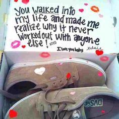 This would be cute for a boyfriend who love shoes or even if hes been wanting a special pair... You can give it to him for anniversary, just because, or valentines #boyfriendgifts #boyfriend #giftideas