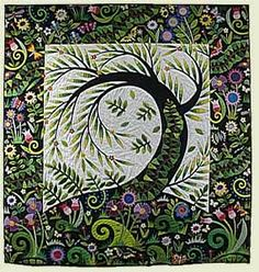 "The most gorgeous quilt I think I've ever seen. ""Willow"" by Jane Sassaman"