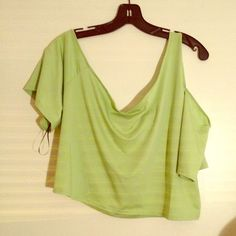 Green crop top by Baby Phat size 3X Baby phat crop top size 3X cute paired with jeans shorts leggings or skirts. Can also be worn under a blazer. This one shoulder top is perfect with any bottom Baby Phat Tops Crop Tops