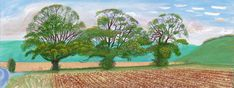 DAVID HOCKNEY: DRAWING IN A PRINTING MACHINE | Autumn Trees | 2008