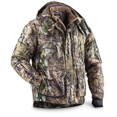 Men s Waterproof Hunting Jacket Breathable Insulated Size M L XL 2XL Mossy  Oak 3e1c8784c7cd