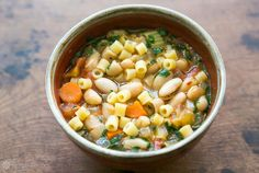 EASY Pasta e fagioli! (pasta fazool) A classic Italian soup of beans and short pasta with tomatoes and vegetables. #Healthy On SimplyRecipes.com