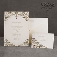 I like that on this one there is like a bead added to each part of the invitation like some extra decoration.