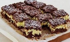 To jedno z najprostszych ciast, jakie zrobisz, a to twarogowe nadzienie jest ob. This is one of the simplest cakes you will make, and this cottage cheese filling is insane! Easy Cake Recipes, Easy Desserts, Sweet Recipes, Dessert Recipes, Hungarian Desserts, Polish Desserts, Banana Pudding Recipes, Food Humor, Food Cakes