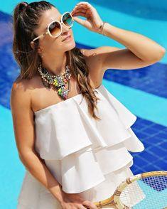 Hopefully summer will never go away. Going Away, One Shoulder, Blouse, Summer, Instagram, Women, Fashion, Tennis, Moda