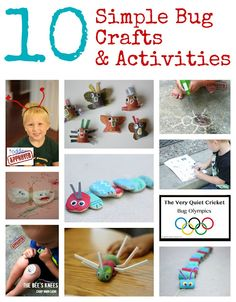 10 Simple Bug Crafts and Activities from Toddler Approved!
