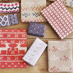Print these high-res copies of textured Christmas sweaters, then wrap your gifts in fashion: http://www.bhg.com/christmas/crafts/christmas-sweater-crafts/?socsrc=bhgpin112214christmassweatergiftwrap&page=6
