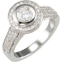 Diamante | Nue Diamonds #manmadediamonds #wedding ring #engagement ring http://www.nuediamonds.com/man_made_diamond_alternative_diamond_Diamante_round.html