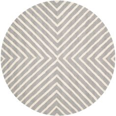 Safavieh Cambridge Silver/Ivory 4 ft. x 4 ft. Round Area Rug-CAM129D-4R - The Home Depot