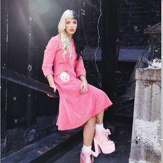 WEBSTA @ crybabiesxcookies - Pink Panther🌸💕 #pink #pinkpanther #heels #babyhead #halfandhalfhair #makeup #photoshoot  #crybaby #dollhouse #sippycup #carousel #alphabetboy #soap #tagyoureit #milkandcookies #pacifyher #mrspotatohead #madhatter #love