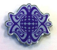 61e9a637b3b EMayzing White   Purple Lotus Pin by emayzing on Etsy